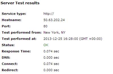 Godaddy Server Speed Test