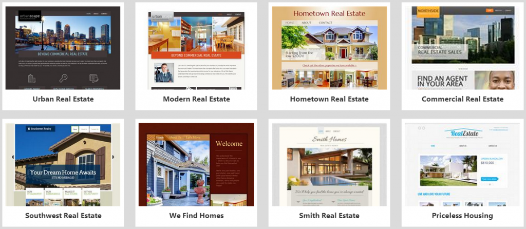 website builder real estate templates