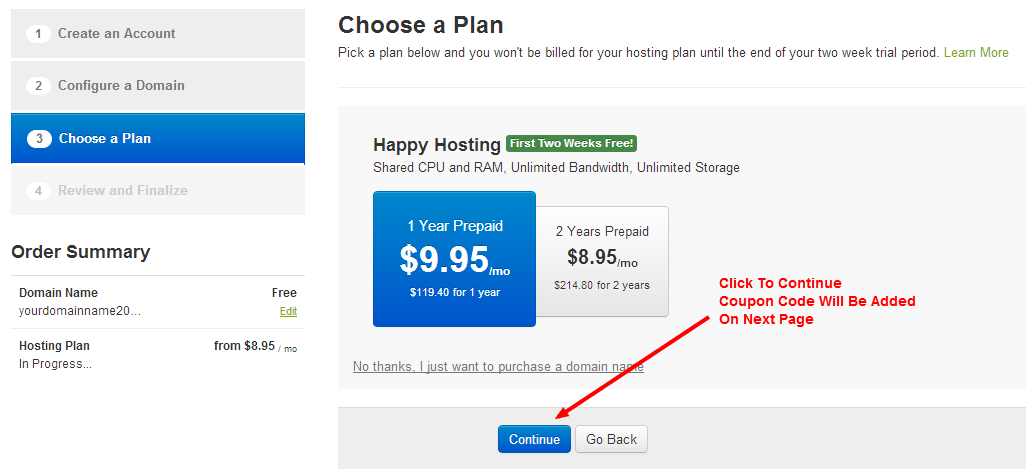 dreamhost coupon 2014 step 3
