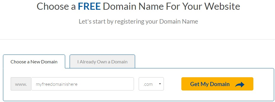 ehost free domain promo