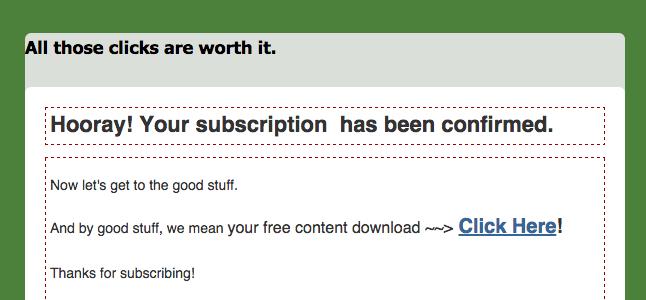 mailchimp subscription confirmation email