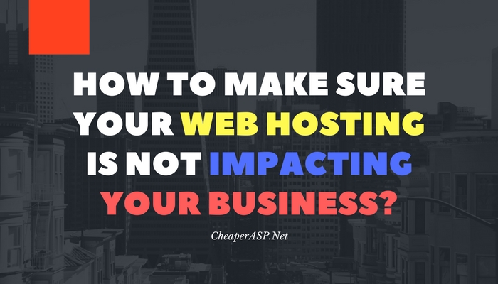 web hosting impact on business