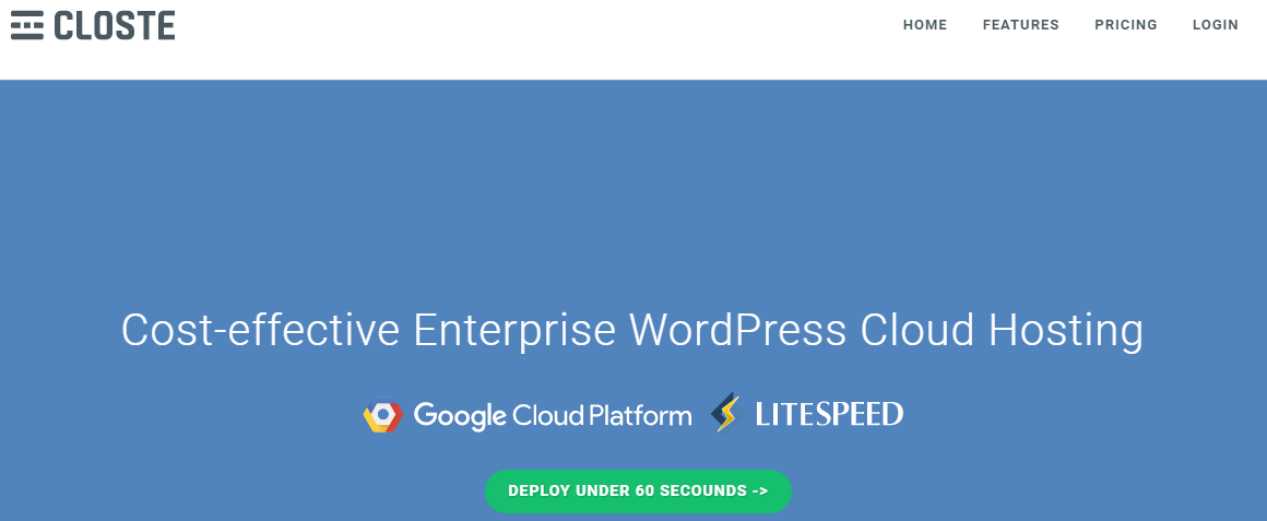 Closte Managed WordPress Cloud Hosting Powered By Google Cloud