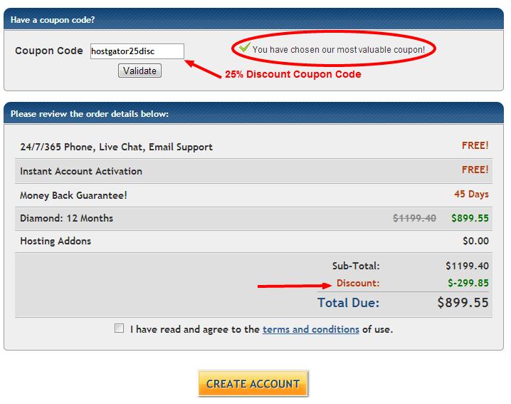 Hostgator 25% Discount Reseller Coupon