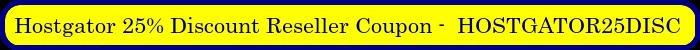Hostgator Reseller Promo Code