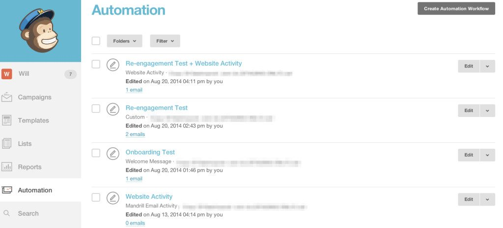 mailchimp automation workflows