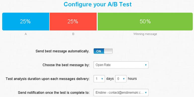 getresponse send best messages automatically