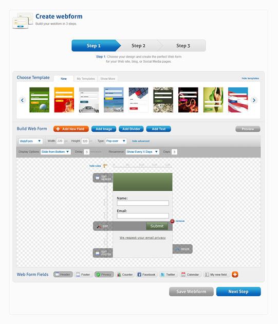 getresponse web forms