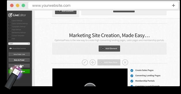 OptimizePress Landing Page Plugin for WordPress