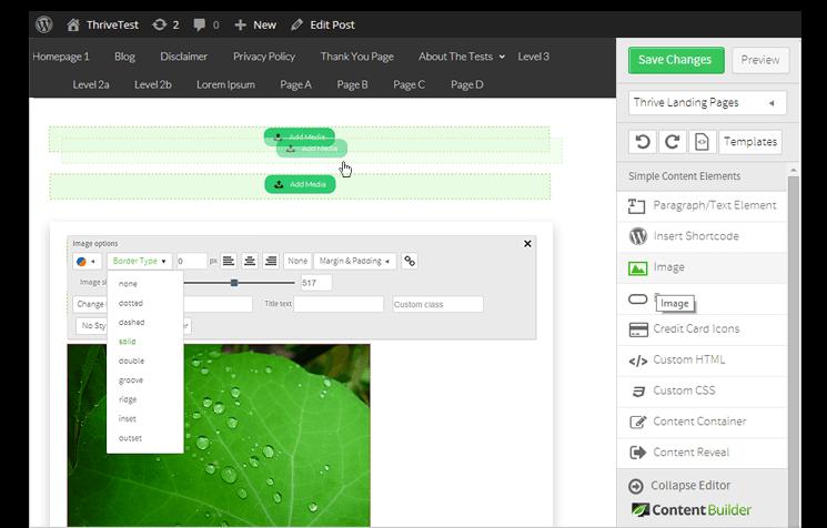 thrive landing page builder wordpress plugin