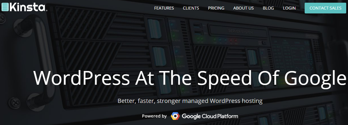 Kinsta Managed WordPress Hosting Powered By Google Cloud
