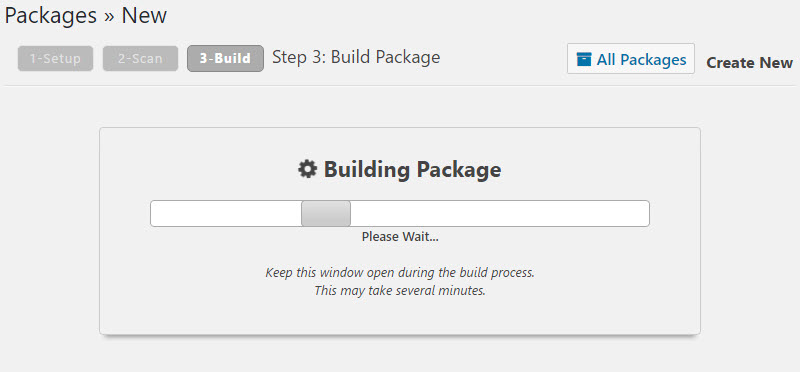 duplicator build process